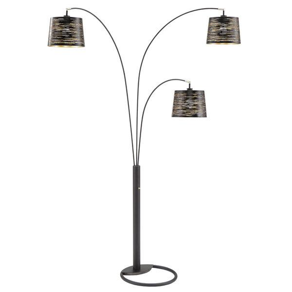 Mori Black Three-Light Tree Floor Lamp, image 1